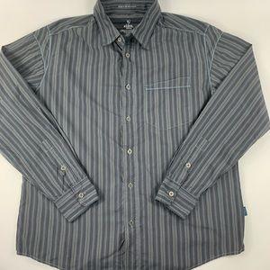 Kuhl Ionik Button Shirt Mens M Gray Nylon Blend